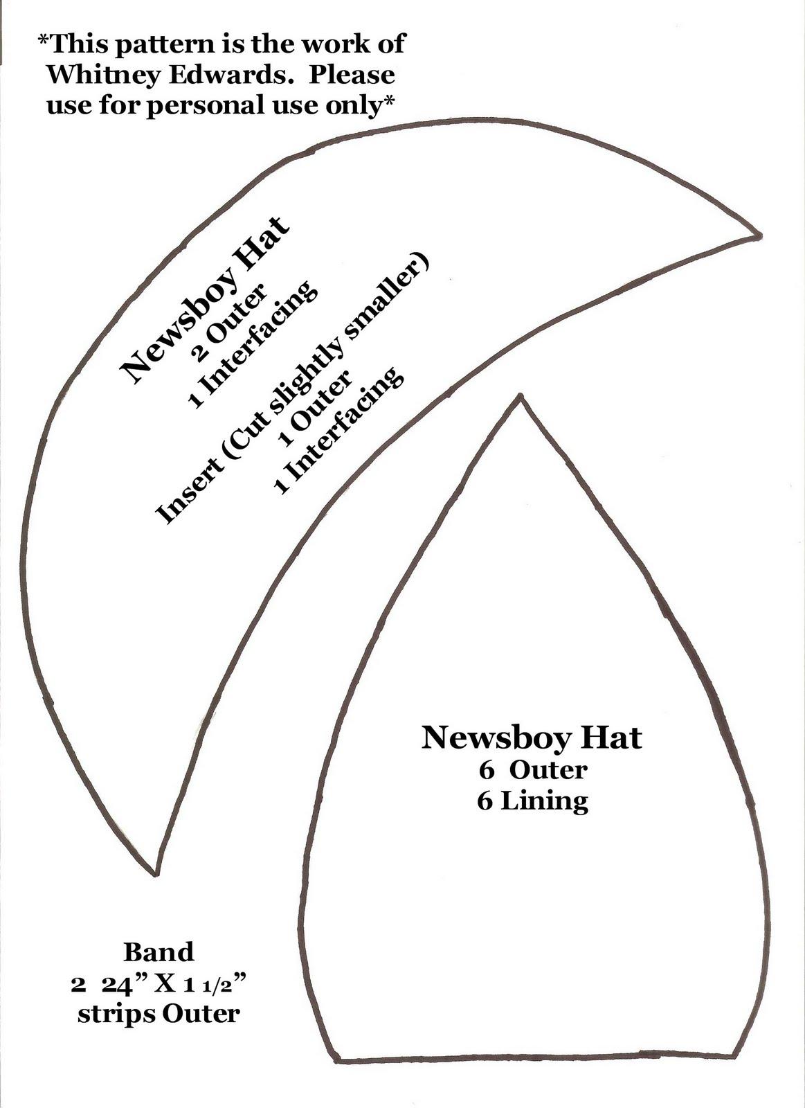 Whitney Sews  Newsboy Hat Pattern aacee17fe70