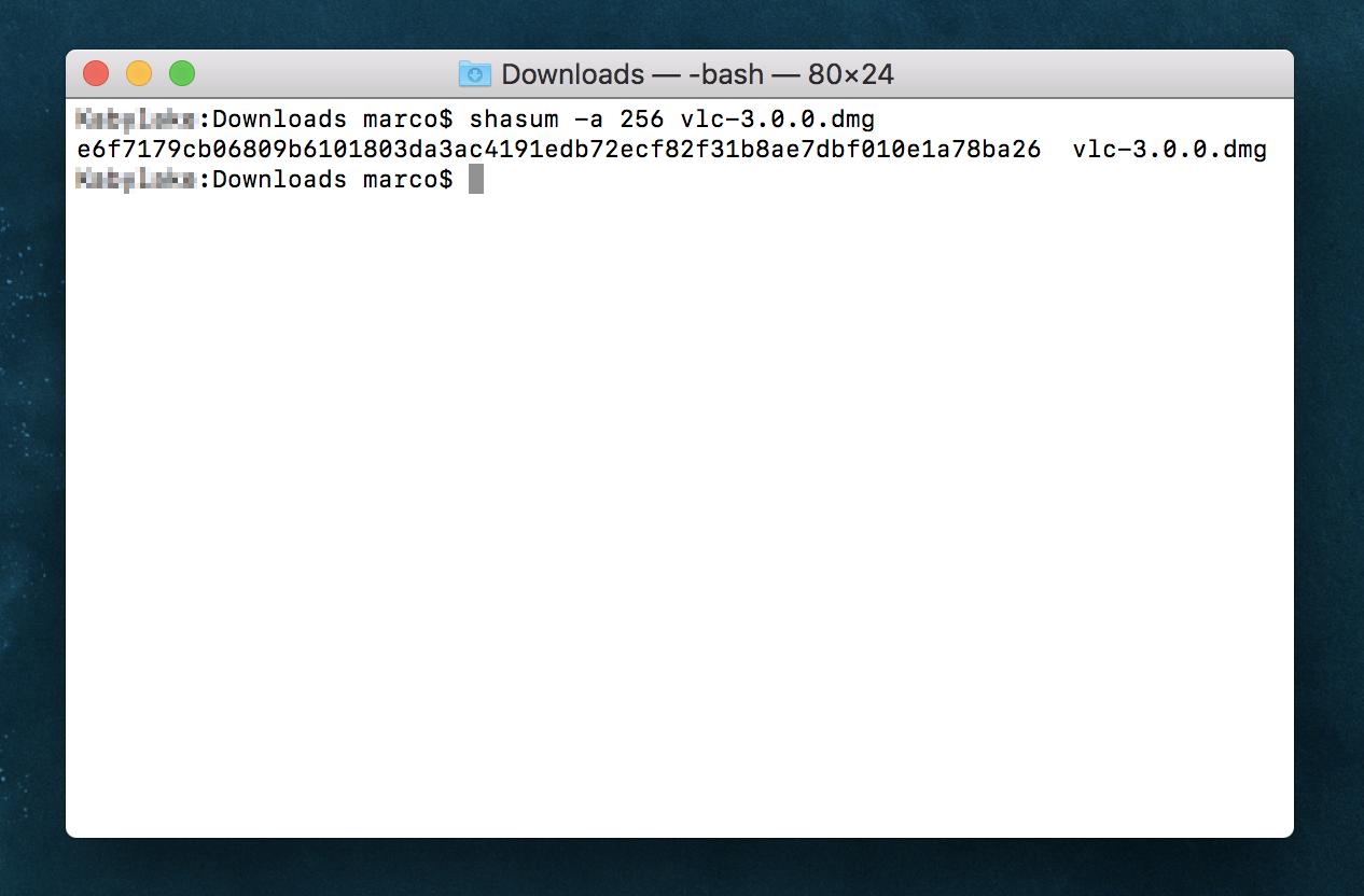 Come verificare che un file scaricato sia veramente quello