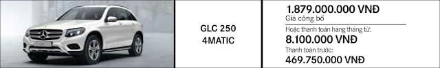 Giá xe Mercedes GLC 250 4MATIC 2018 tại Mercedes Trường Chinh
