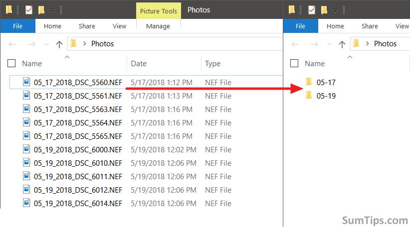 Sort Files Into Folders Based on Filename
