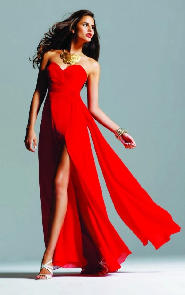 Colores de moda vestidos de noche 2014