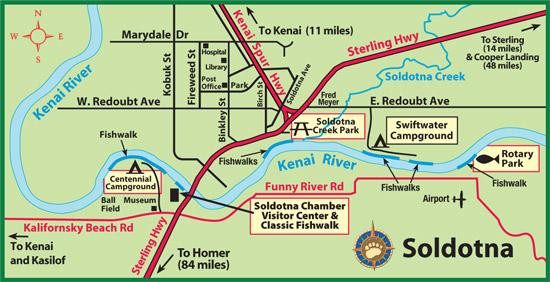 Maps of Alaska Roads By Bearfoot Guides: Map of Soldotna, Alaska Kasilof Map on manley hot springs map, cordova map, eielson afb map, new stuyahok map, holy cross map, marshall map, yakutat map, adak map, king salmon map, talkeetna map, mountain village map, nome map, anchorage map, homer map, big lake map, whittier map, wainwright map, tustumena lake map, sitka map, st. paul island map,