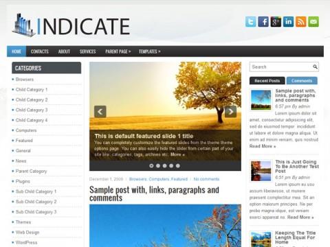 Free Indicate WordPress Theme