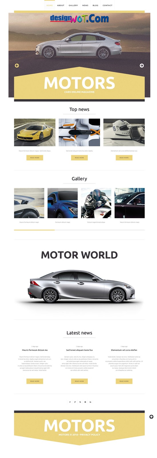 Car Club WordPress Responsive Theme