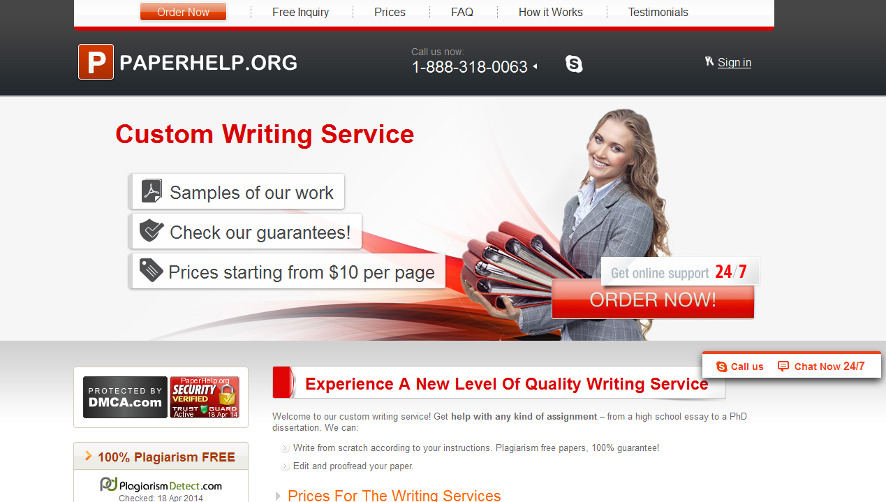 Custom writing service 7 page