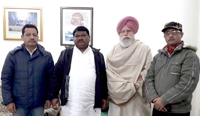 Bimal Gurung team met Tribal Minister Joel Oram