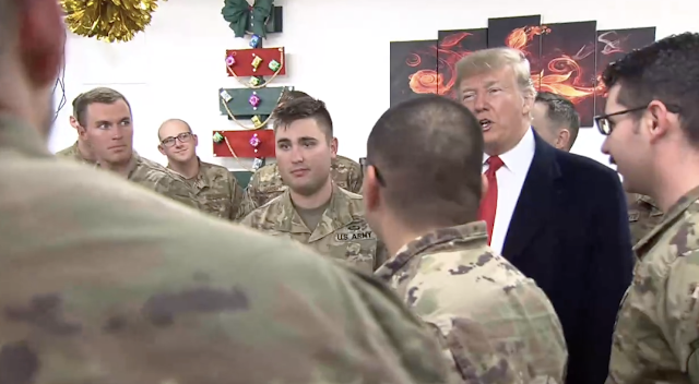 NBC News insists corrected story about Trump not visiting troops was correct 'at the time'