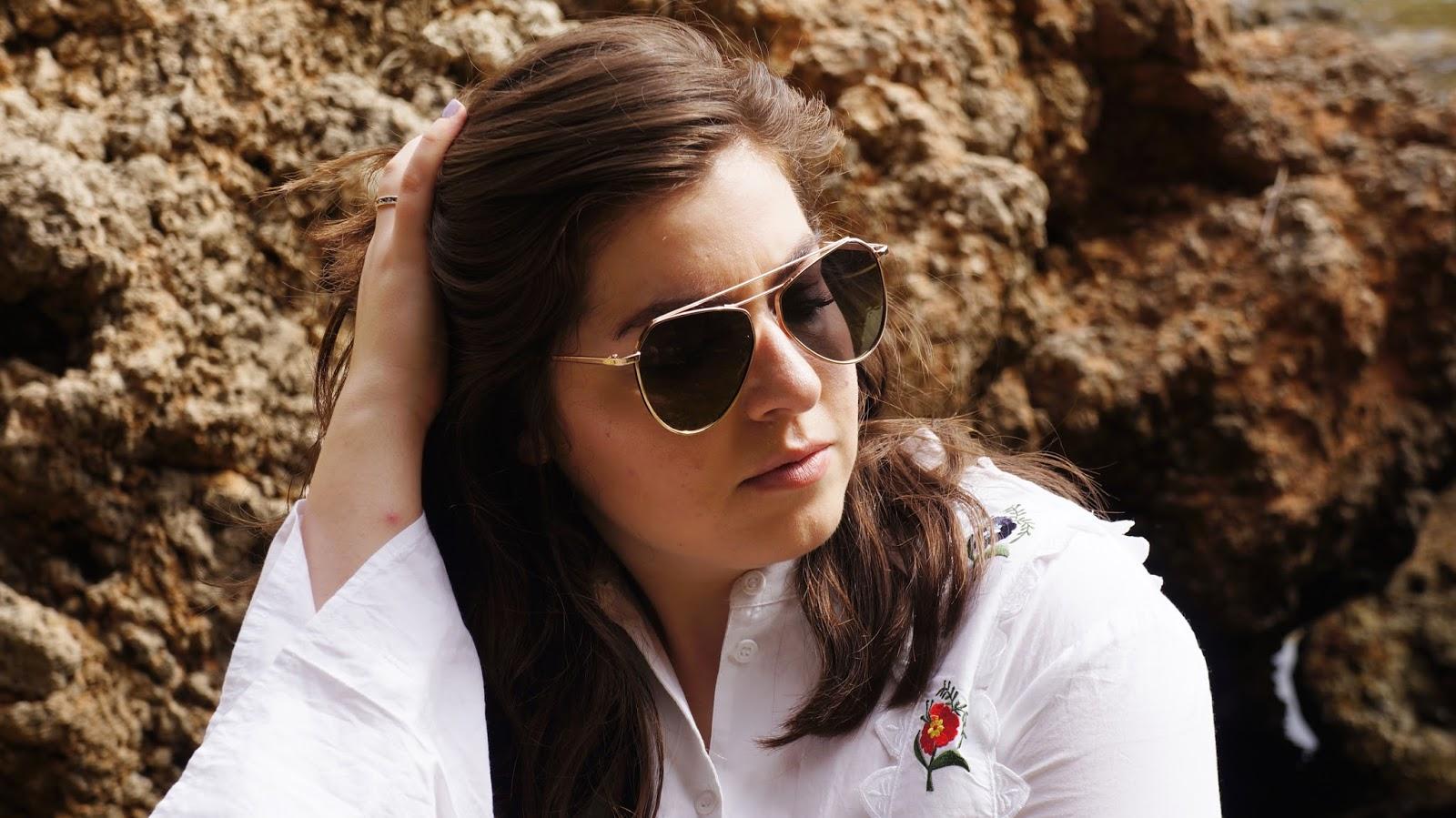 7X via ASOS aviator sunglasses in gold