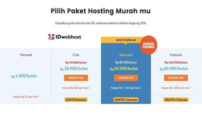 Paket Murah IDwebhosting