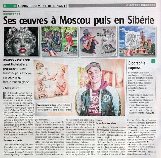 L'artiste Ben Heine dans Vers l'Avenir - 2016