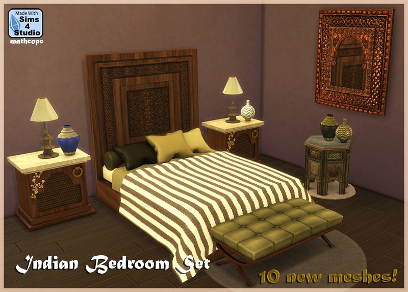 My Sims 4 Blog: Indian Bedroom Set By Mathcope