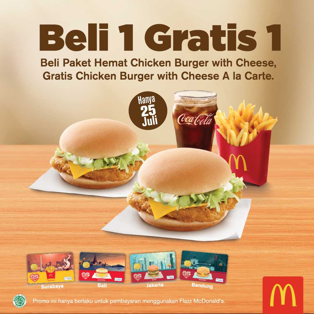 McDonald's - Promo Beli 1 Gratis 1 Paket Hemat Chicken (Hanya 25 Juli 2018)