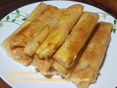 Turon na Saging, Fried Banana Rolls