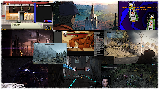 Collage of games that made the list of Top 10 PC Games of the 2010s here at Choicest Games