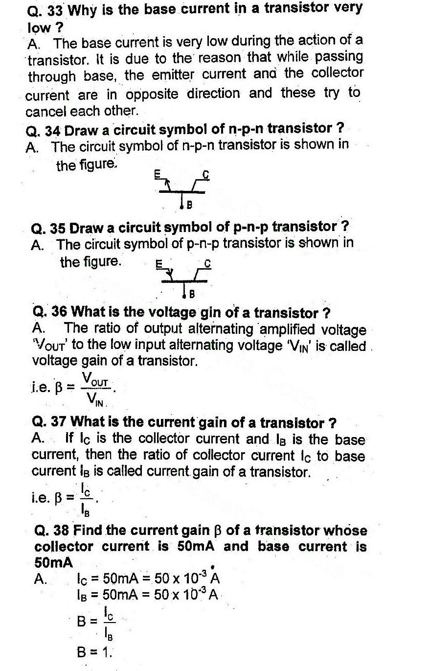 Chapter 18 Electronics Questions