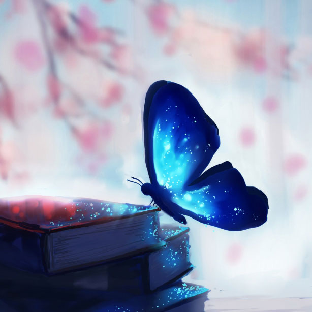 Blue Butterfly Books Fantasy Wallpaper Engine