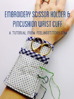 Embroidered Scissor Wrist Cuff tutorial