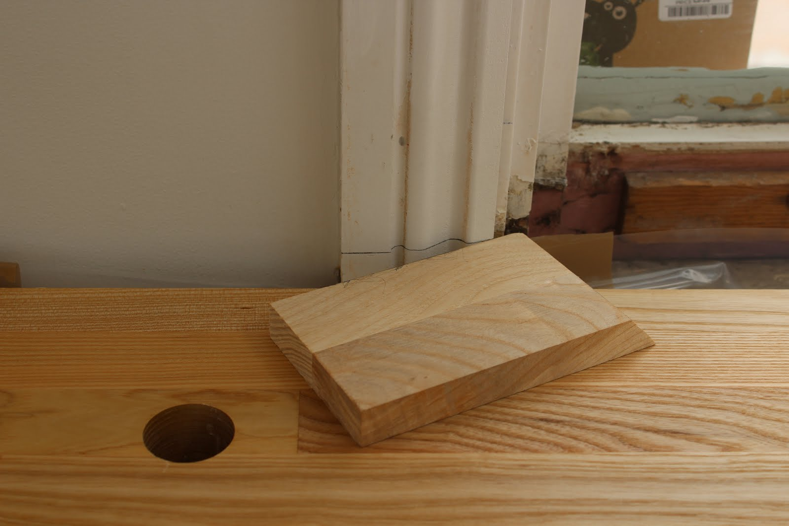 How to create a window sill from leftover upstand