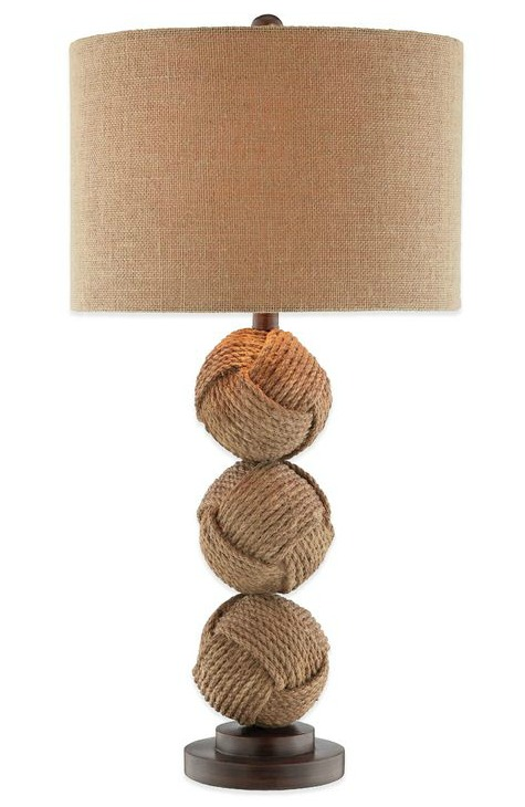 Stacked Rope Knot Table Lamp