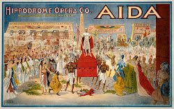 1908 Poster for the opera, Aida