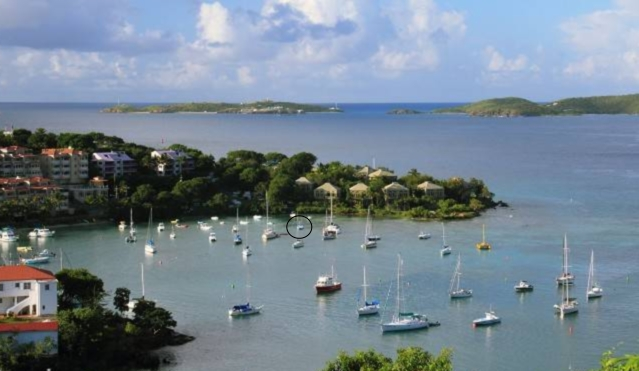 chart of cruz bay st john virgin islands  by dearmissmermaid.com