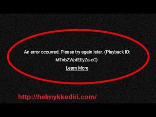 youtube tidak dapat diputar