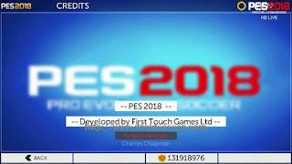FTS Mod PES 2018 HD Apk + Data Obb