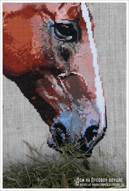 вышивка лошадь