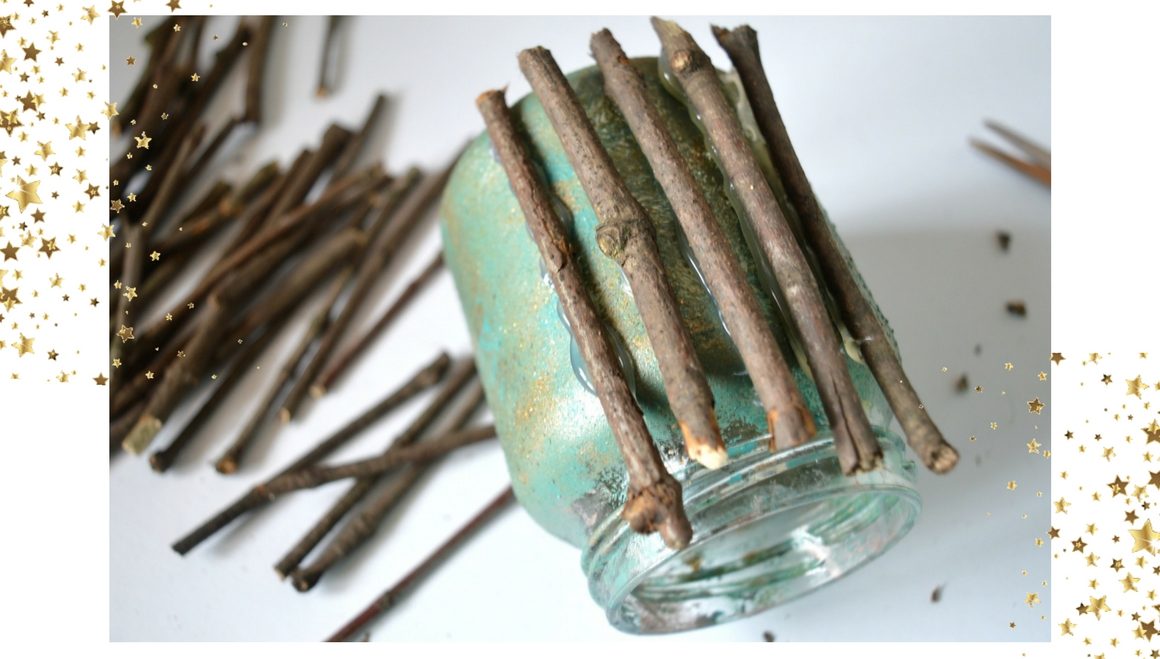 sticks on jar