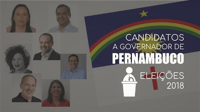 Candidatos a Governador de Pernambuco - Eleições 2018
