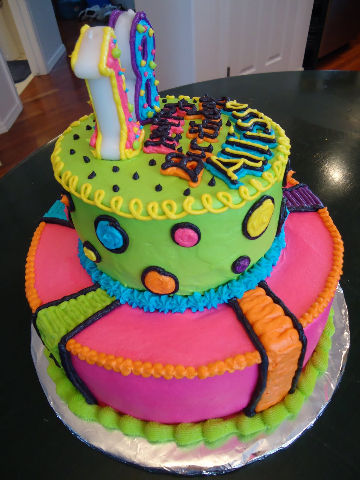 Cat S Cake Creations Neon Lights Bright Bright Bright