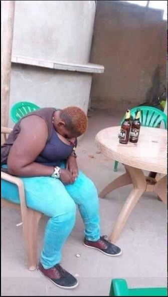How Possible? Busty Lady Uses Her Massive 'Watermelons' as Pillow after Getting Drunk in Public (Photo)