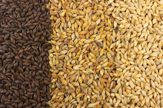 Pale malt, crystal malt, chocolate malt