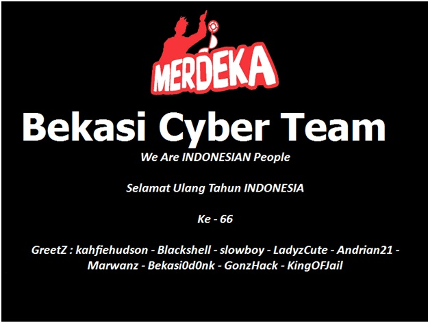 8 China Website Government Defaced By Bekasi0d0nk (Indonesian Hacker)