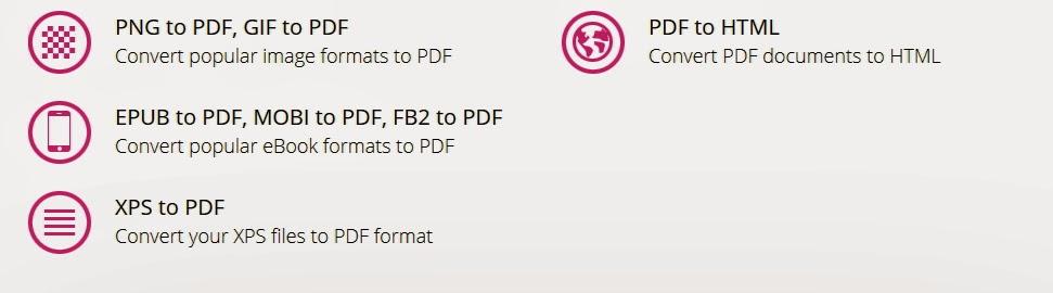 Convertir desde y hacia el formato PDF | Con muchos formatos soportados