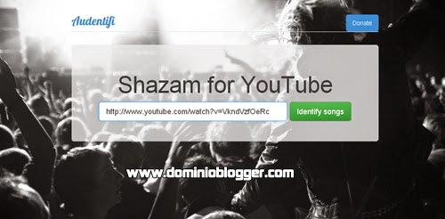Descubre la musica en los videos de Youtube con Audentifi