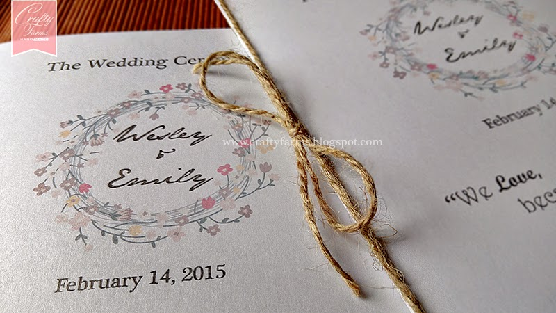 wedding card malaysia crafty farms handmade garden church