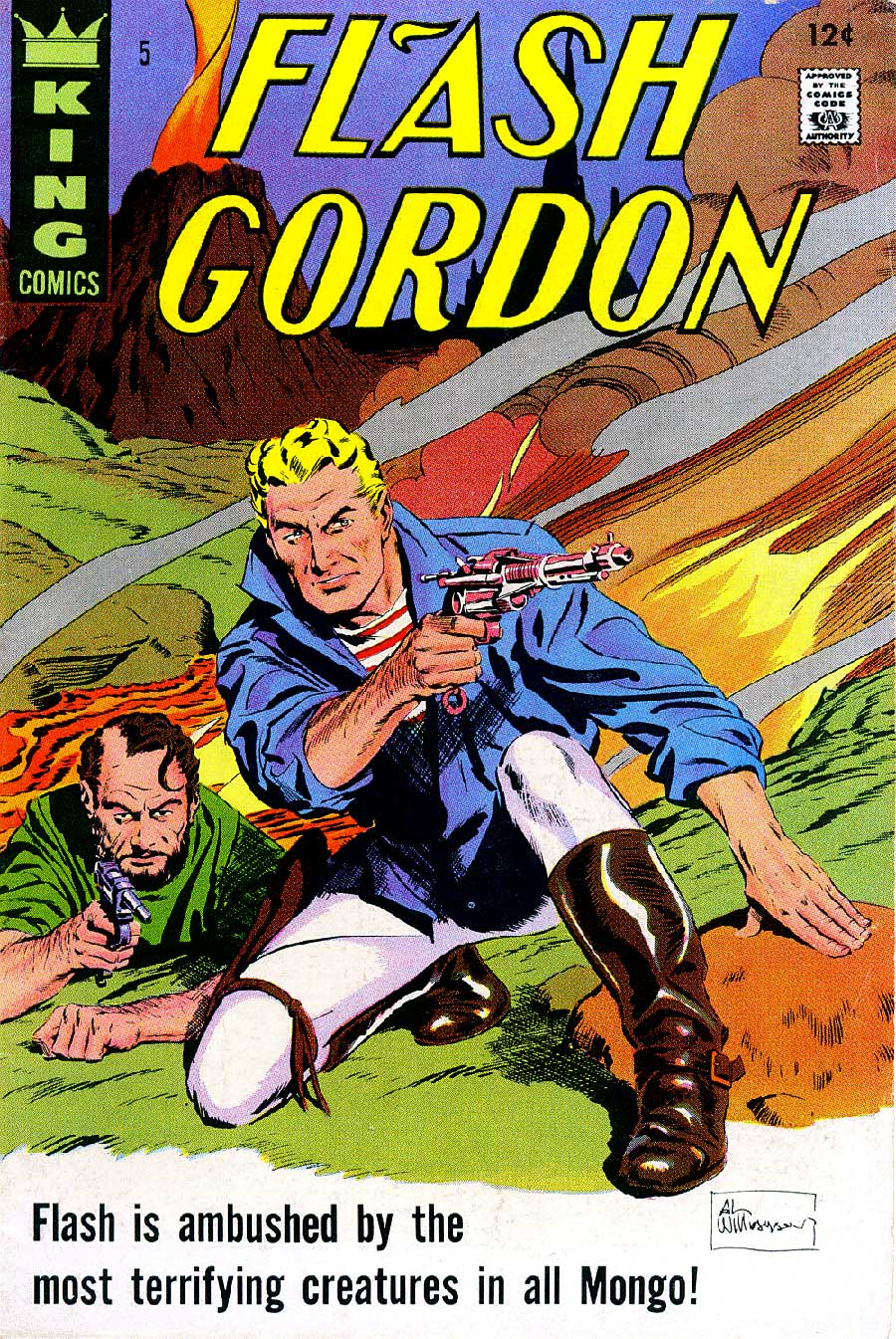 Flash Gordon v4 #5 1960s silver age science fiction comic book cover art by Al Williamson