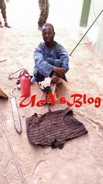 See The Herdsman Arrested With Locally Made Bullet Proof Vest And Cutlass In Benue State (Photo)