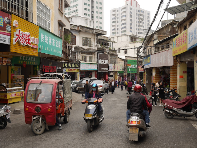 small vehicles on Jiefang East Road in Yunfu