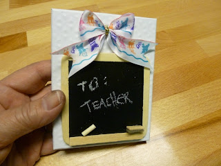 teacher gift card box