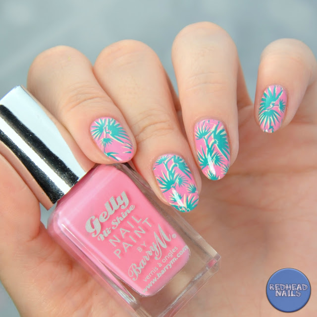 Born Pretty Store BP-L047 plate tropical mani