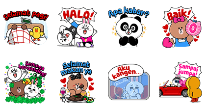 LINE Characters: Daily Greetings