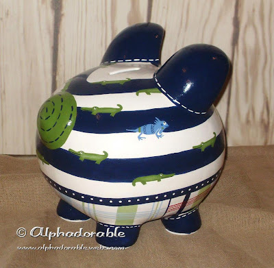 Alphadorable Custom Piggy Bank To Match Pottery Barn S