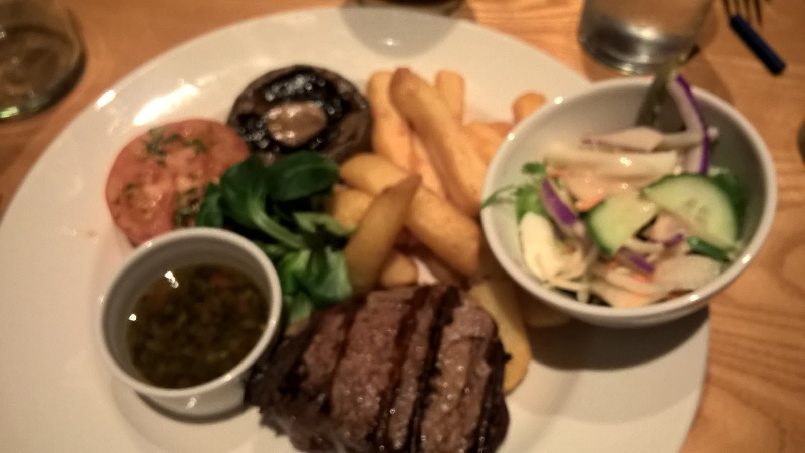 Filet Steak & Chips - Beefeater Grill Walston Castle Wenvoe