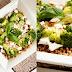 Sałatka gryczana z brokułami, fetą, migdałami i bazyliowym sosem winegret.