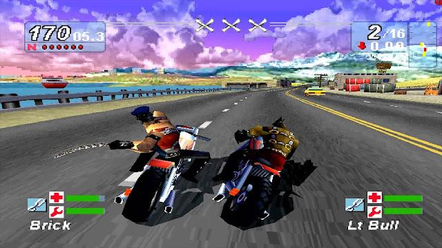 Road Rash Jailbreak GBA, Playstation1
