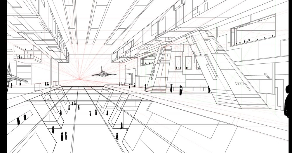 ANCORA IMPARO: One Point Perspective Hangar