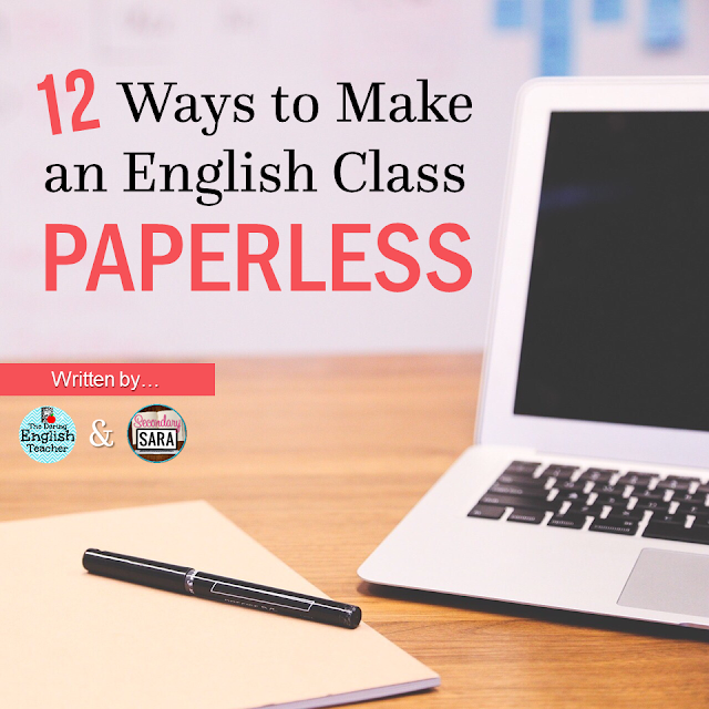 A paperless English class? Does that exist?! It might not exist for you yet, but it certainly can! Click through to read 12 ways to make English class paperless. It's better for you, it's better for the students, and it's better for the environment!