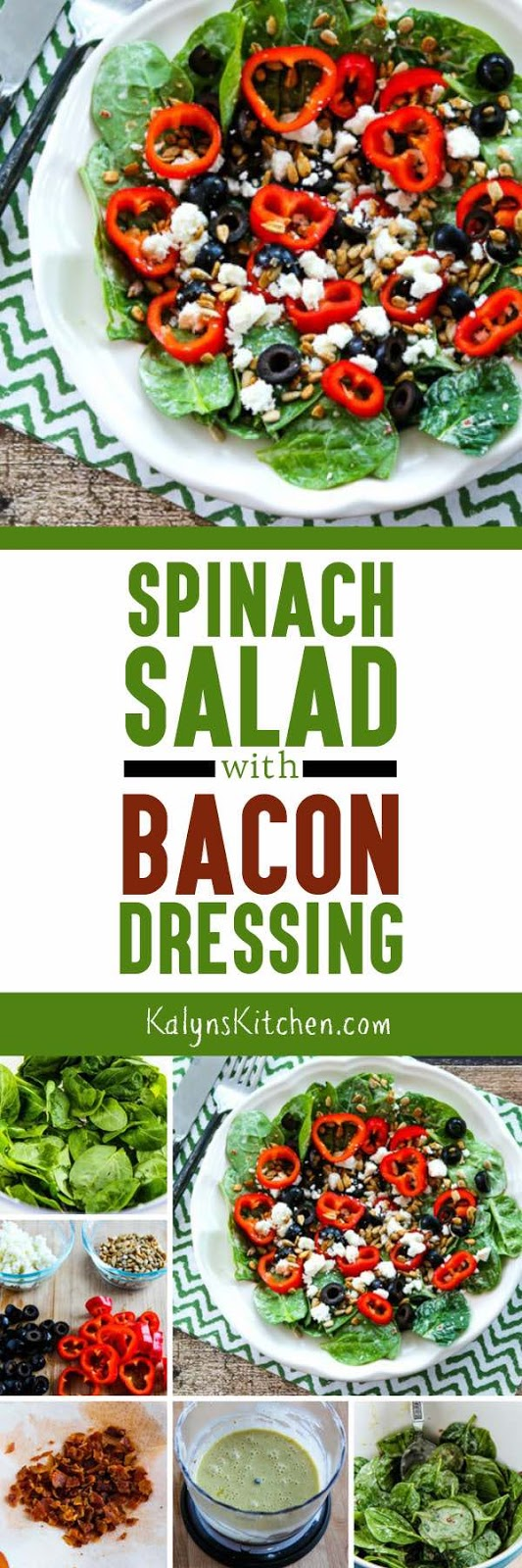 Spinach Salad with Bacon Dressing - Kalyn's Kitchen